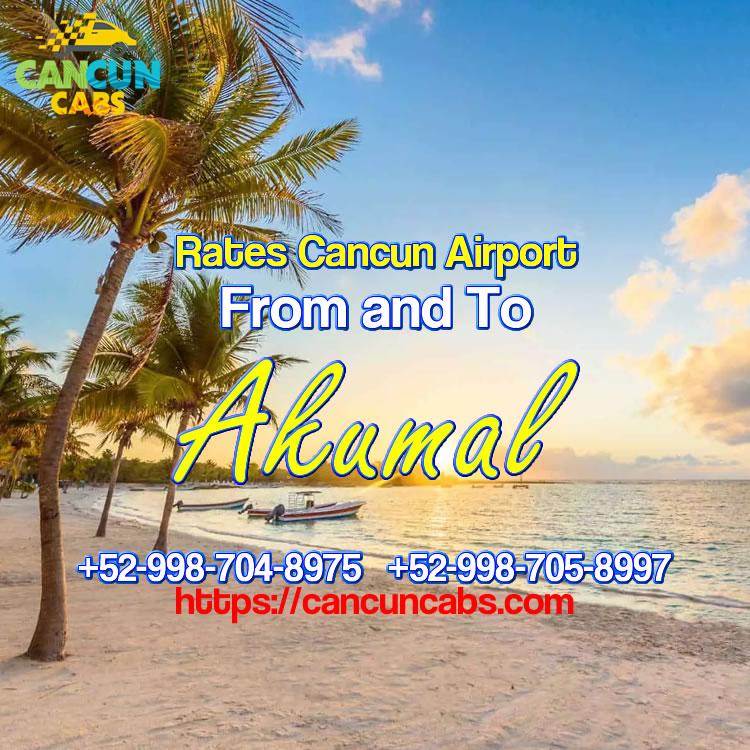 Cancun Airport transfer to Akumal!