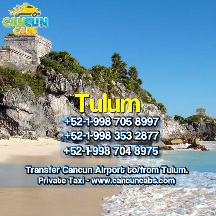 Cancun Airport transfer to Tulum