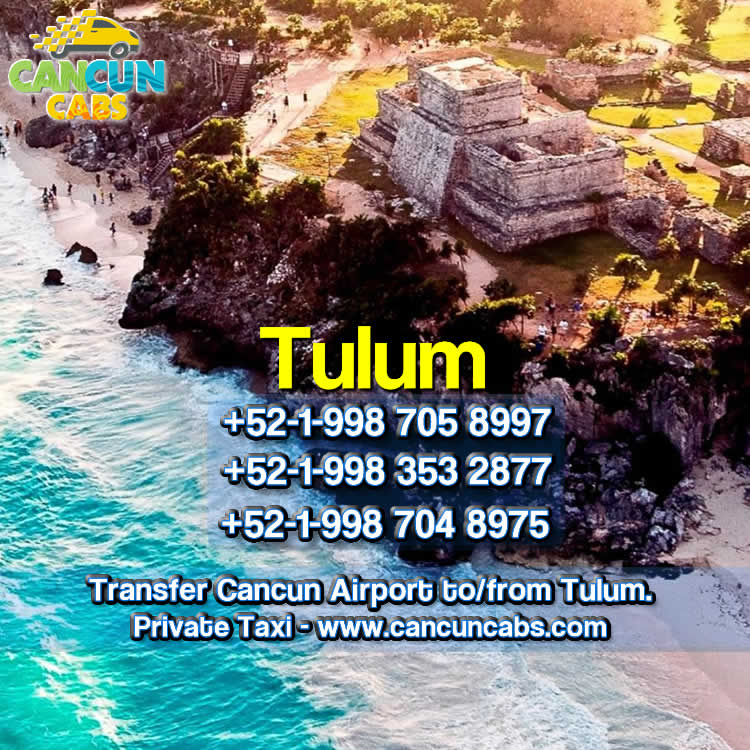 Cancun Airport transfer to Tulum.