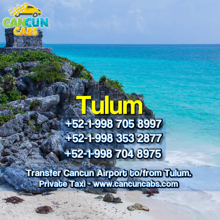 Cancun Airport transfer to Tulum!